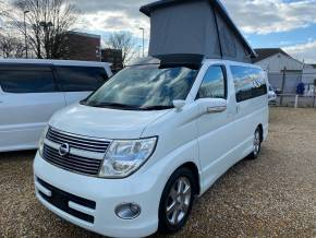 Nissan Elgrand Mistral Camper 4 berth Highway Star 2.5 Motorhome Petrol Pearlescent White at Camper Van Centre Southampton