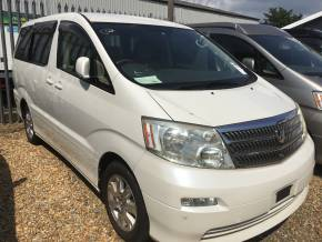 Toyota Alphard 2.4 G Mistral Campervan Motorhome Petrol Pearl White at Camper Van Centre Southampton