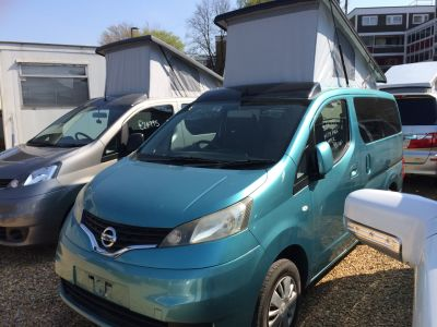 Nissan NV200 1.6 Mistral Camper Petrol Automatic Motorhome Petrol Metallic TurquoiseNissan NV200 1.6 Mistral Camper Petrol Automatic Motorhome Petrol Metallic Turquoise at Camper Van Centre Southampton