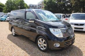 Nissan Elgrand 2.5 Highway Star MPV Petrol Pearlescent Black at Camper Van Centre Southampton