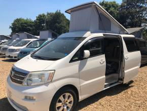 Toyota Alphard 2.4 Mistral Campervan Motorhome Petrol Pearl White at Camper Van Centre Southampton